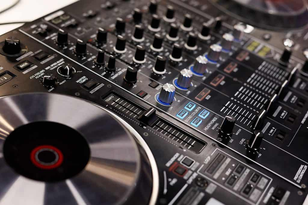 Picture of a DJ controller.