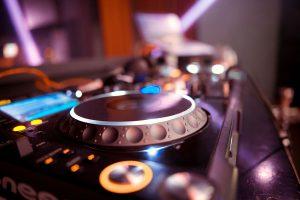 DJ Controller setup in a home studio.