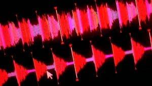 Screenshot of beatgrids from DJ software.