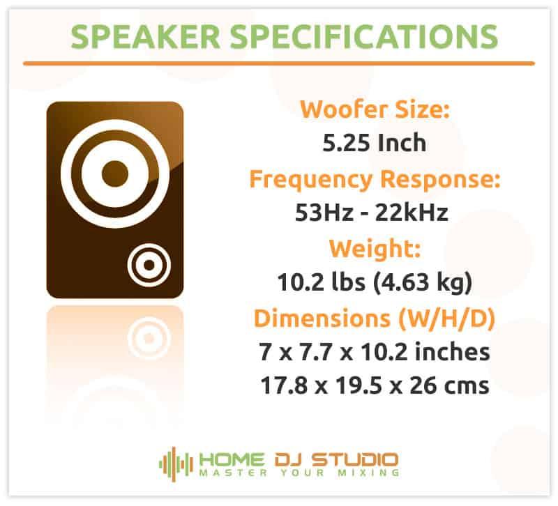 Presonus Eris E5 Studio Monitor Specifications