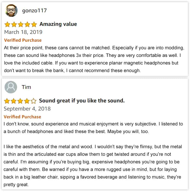 Text Reviews of Monolith M1060 headphones.