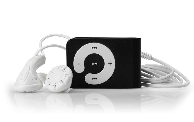 Photo of an MP# Player on a white background.