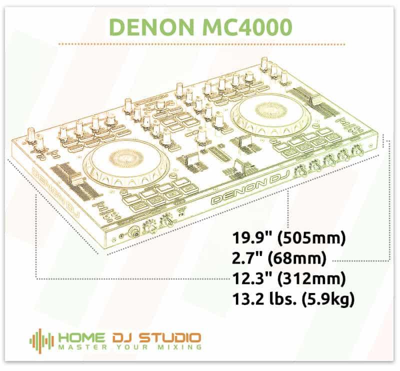 Denon MC4000 Dimensions