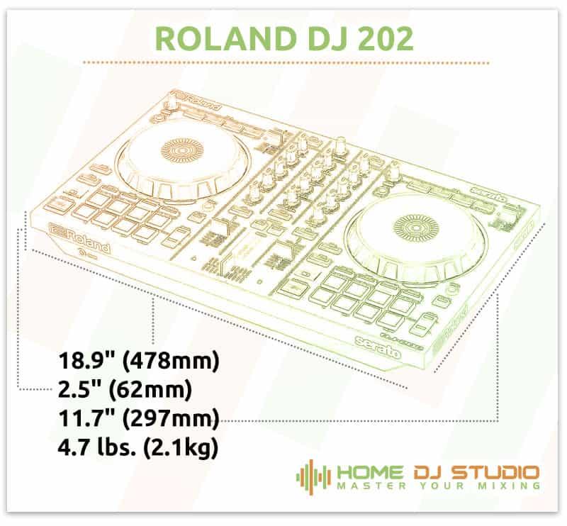 Roland SJ 202 Dimensions