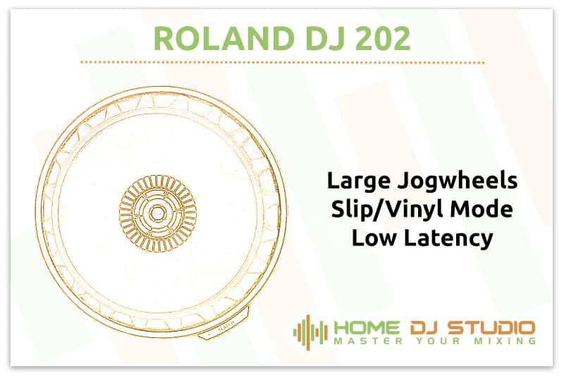 Roland DJ 202 Jogwheels