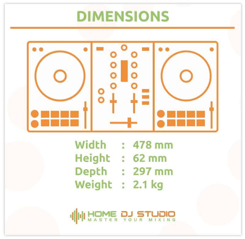 Roland DJ 202 Dimensions