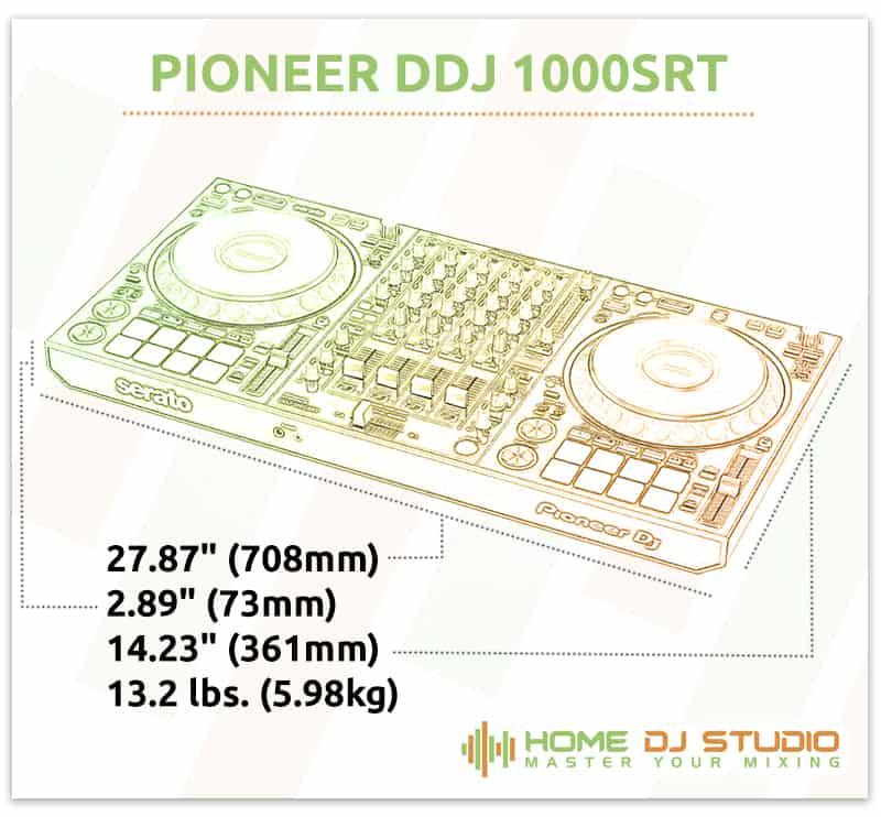Pioneer DDJ 1000SRT Dimensions