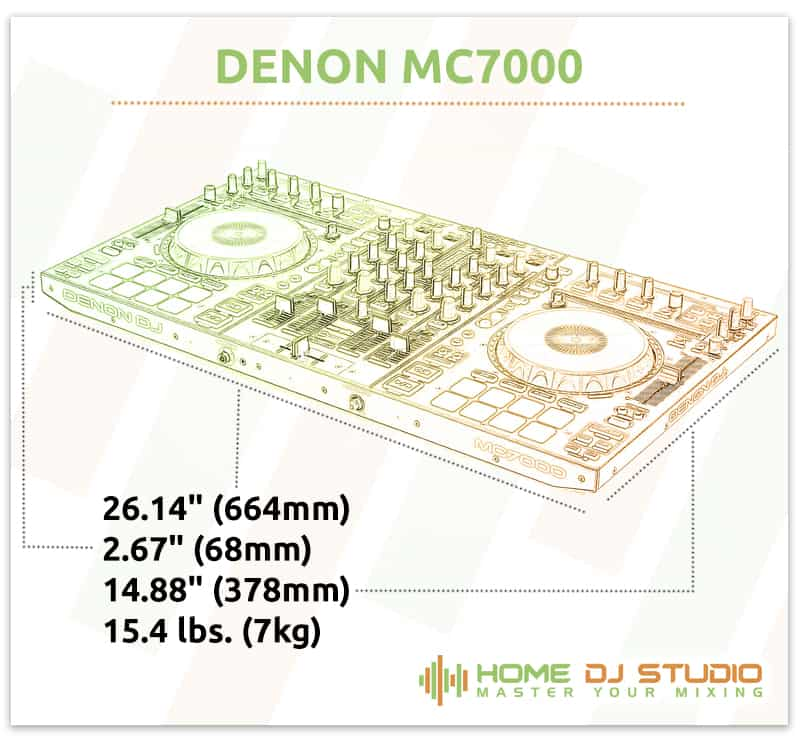 Denon MC7000 Dimensions