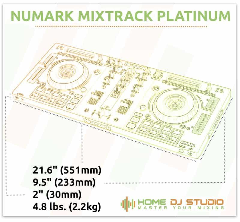 Numark Mixtrack Platinum Dimensions
