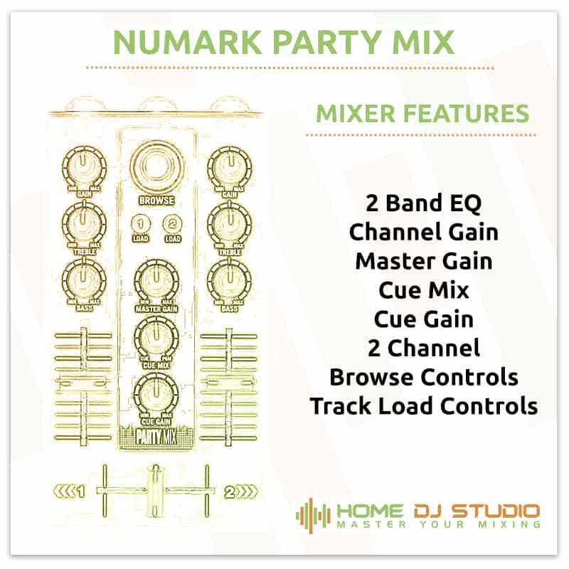 Numark Party Mix Mixer Section