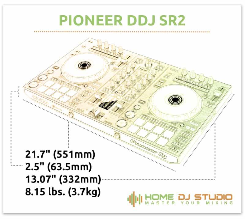 Pioneer DDJ SR2 Dimensions