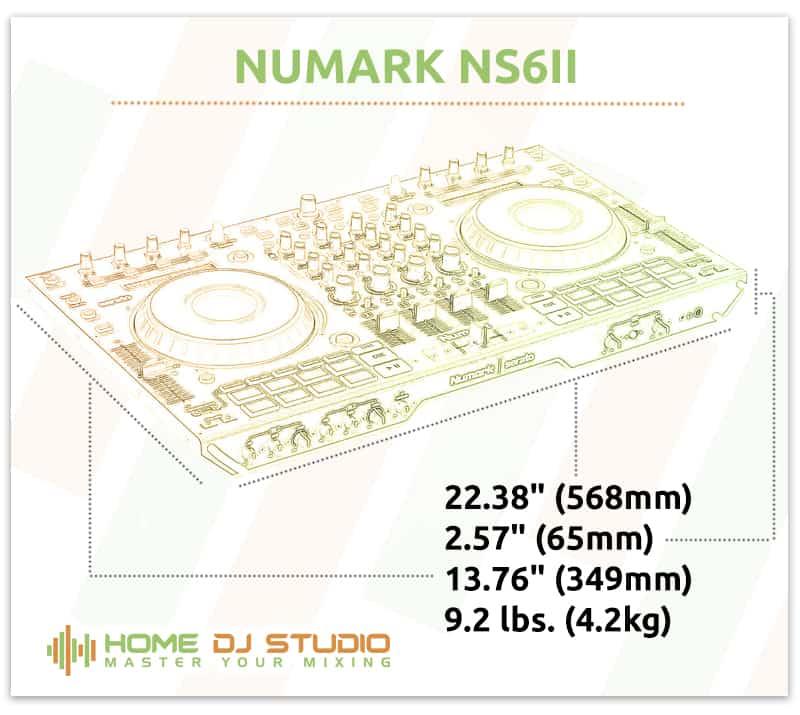Numark NS6II Dimensions