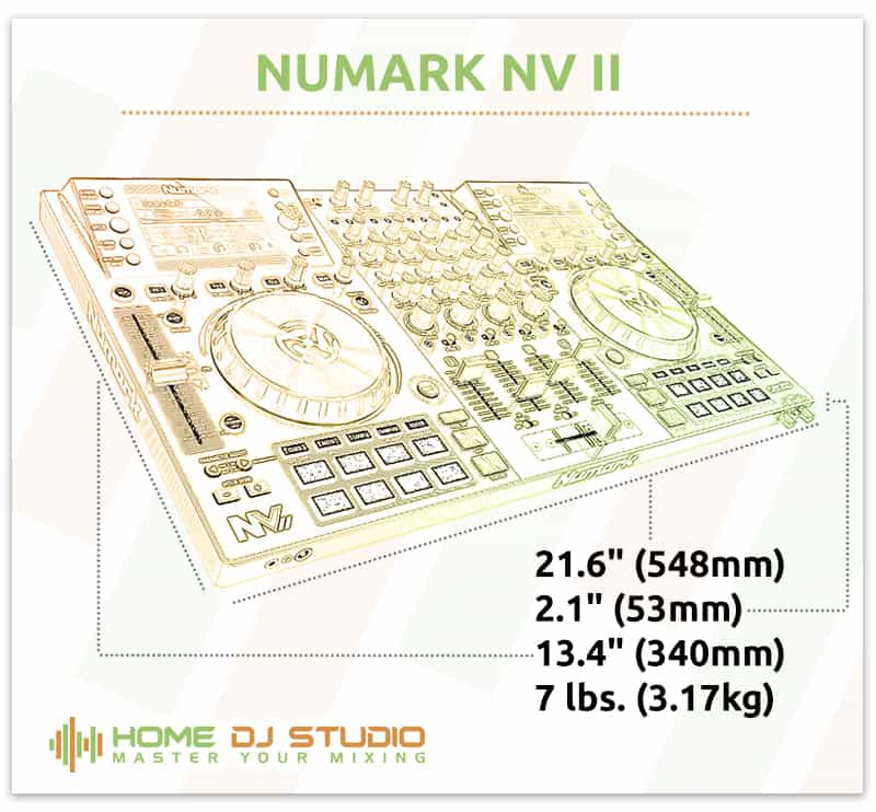 Numark NVII Dimensions