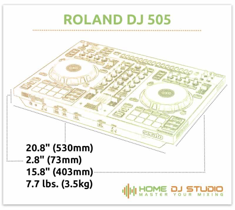 Roland DJ 505 Dimensions