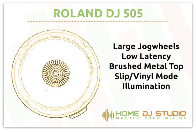 Roland DJ 505 Jogwheels