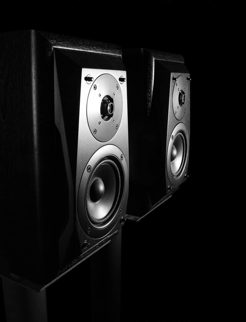 Photo of two studio monitor speakers