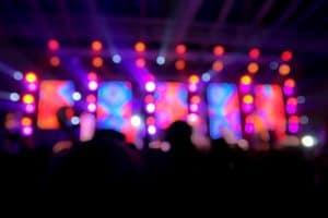 Festival stage lights