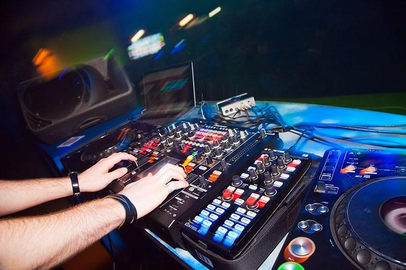 DJ performing in a nightclub