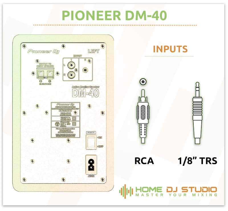 Pioneer DM-40 Input Options