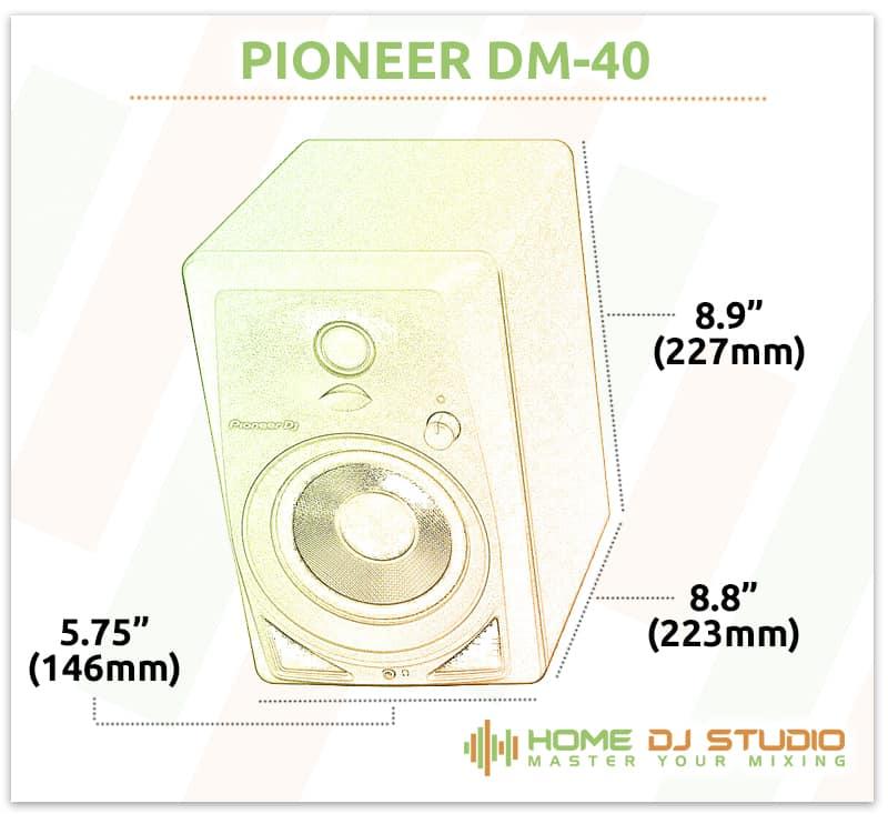 Pioneer DM-40 Dimensions