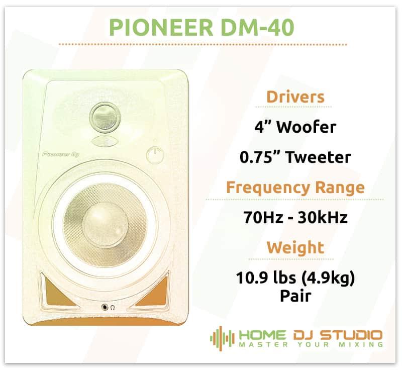Pioneer DM-40 Specifications