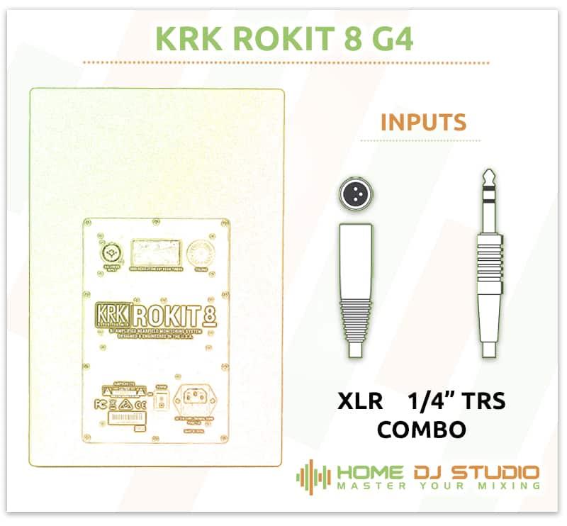 KRK Rokit 8 G4 Inputs