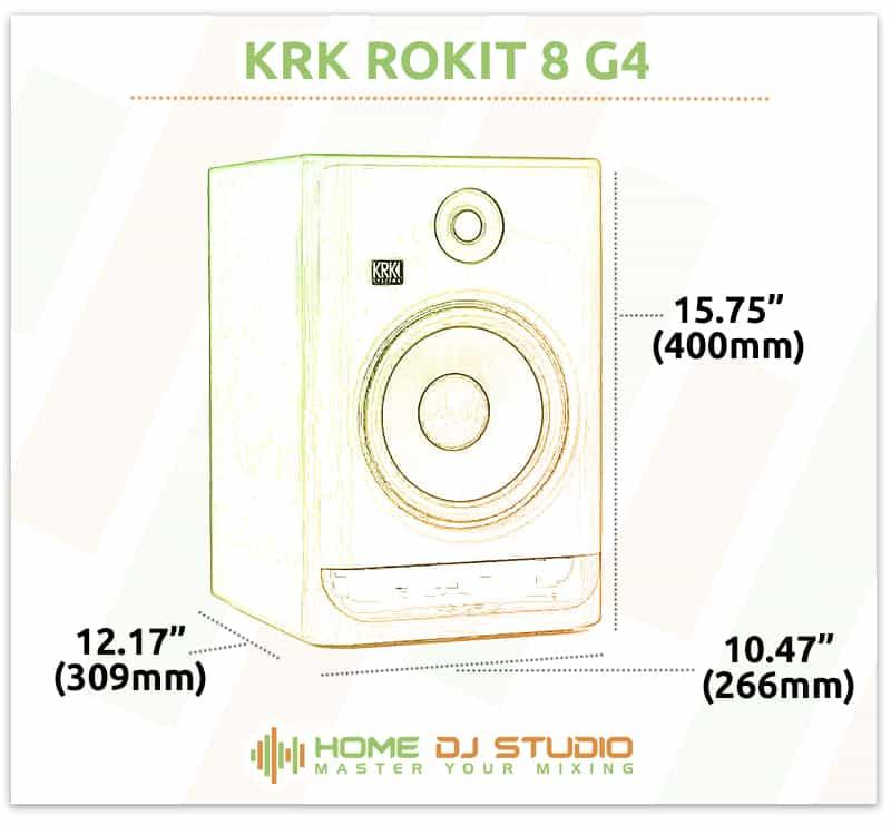 KRK Rokit 8 G4 Dimensions