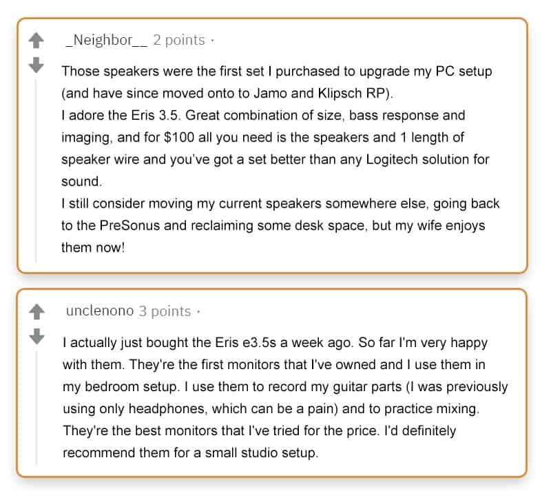 PreSonus Eris E3.5 Reviews
