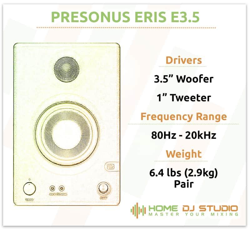 PreSonus Eris E3.5 Specifications