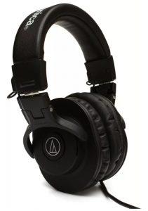 Three quarter view of the Audio-Technica ATH-M30x headphones