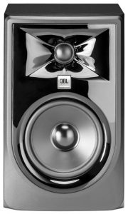Front view of the JBL 305p MkII studio monitor