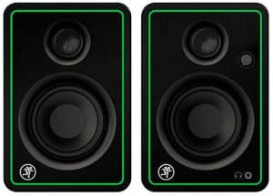 Front view of a pair of Mackie CR3-X studio monitors