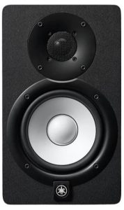 Front view of the Yamaha HS5 studio monitor