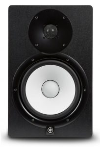 Front view of the Yamaha HS8 studio monitor