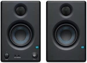 Front view of a pair of Presonus Eris E3.5 studio monitors