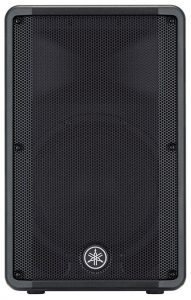 Front view of the Yamaha DBR12 speaker.