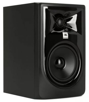 Three quarter view of the JBL 305P MkII studio monitor