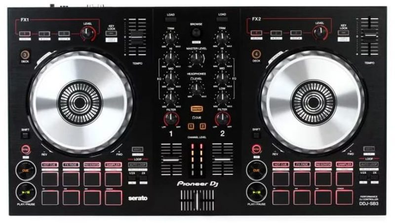 Top view of the Pioneer DDJ SB3