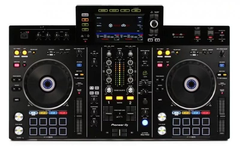 Top view of the Pioneer XDJ RX2