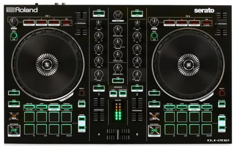 Top view of the Roland DJ 202
