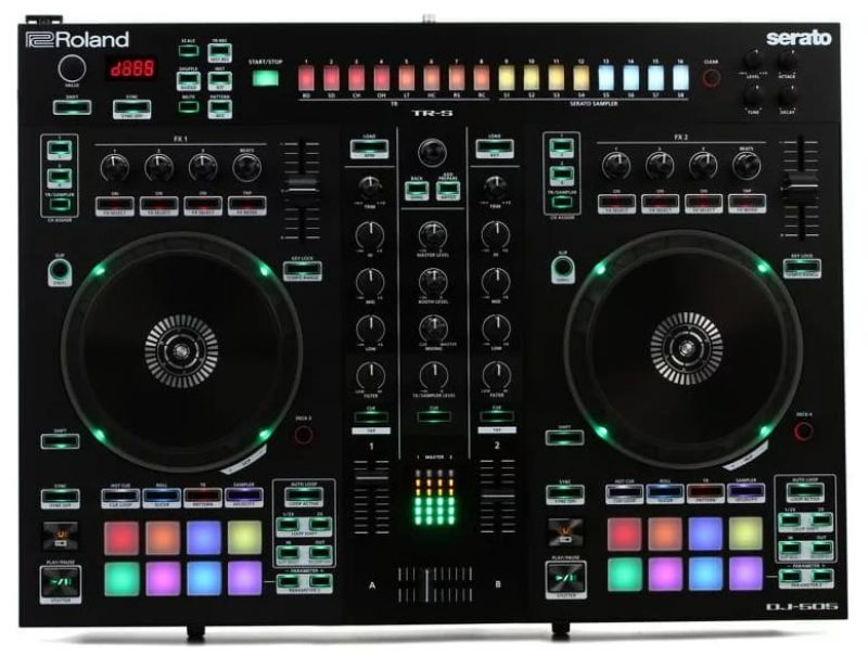 Top view of the Roland DJ 505